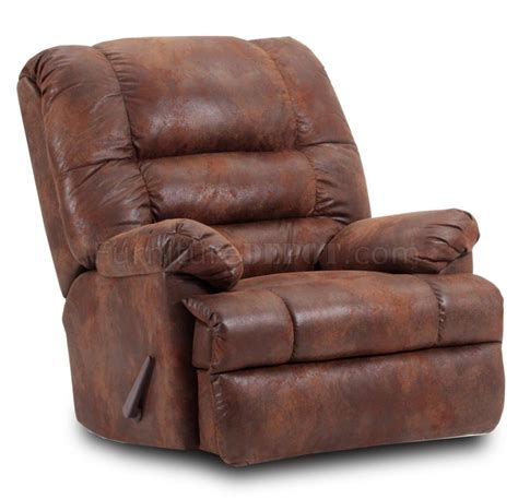 Tobacco Microfiber Modern Comfortable Reclining Chair