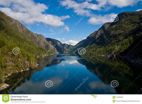 fjord water fjord with water between the mountains stock images