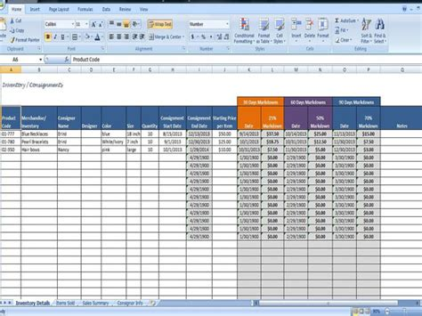 Shipment Tracking Excel Template by Consignment Tracking For Stores Inventory By
