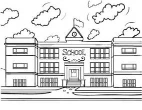 what color is a school school house coloring pages getcoloringpages