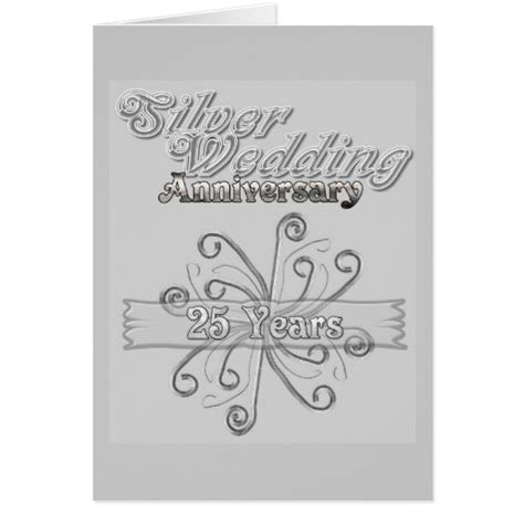 Wedding Anniversary Cards 25 Years by Silver Wedding Anniversary 25 Years Greeting Card Zazzle