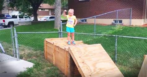 backyard ninja warrior course dad builds ninja warrior backyard course for daughter