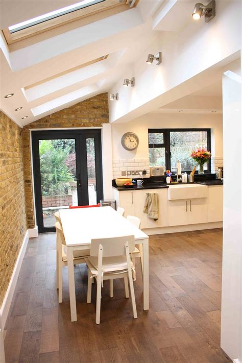 Side Kitchen by Side Return Kitchen Extension With Exposed Brick Work