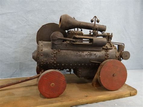 Handmade Steam Engine - handmade replica steam engine threshing machine