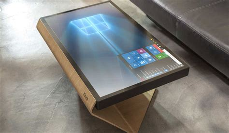 diy touchscreen coffee table coffee table contemporary diy ir touch screen overlay