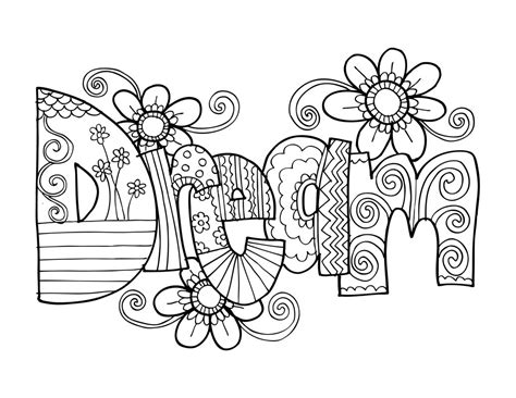 hair dreams coloring book for adults books kpm doodles coloring page