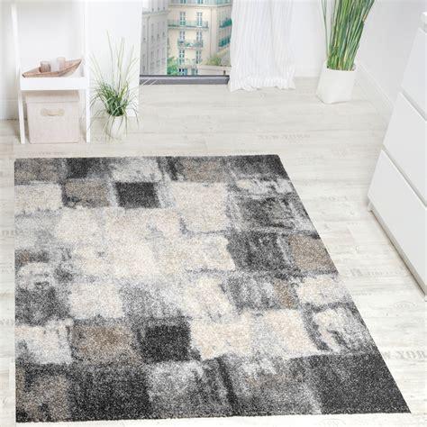 teppich hochwertig teppich kariert grau creme design teppiche