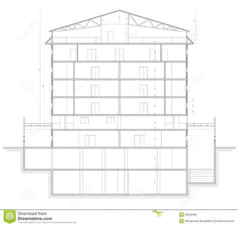 section of building plan building section plan stock photography image 26223492
