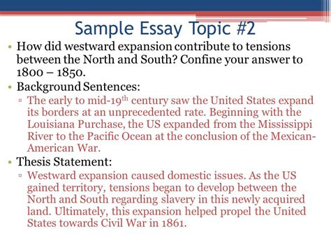 Westward Expansion Essay Topics by Apush Review How To Write An Introductory Paragraph Ppt