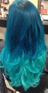 aqua hair color turquoise pastel ombr 233 hair with extensions added in for