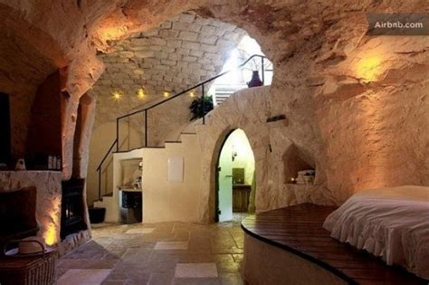 Square Kitchen Islands columbarium is an eco luxe cave dwelling in israel green