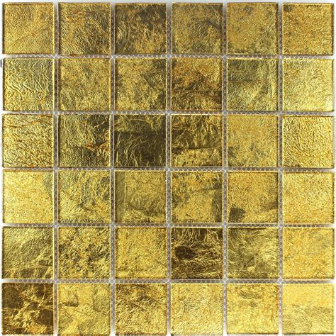 glasmosaik effekt fliese gold 48x48x4mm fl90025m