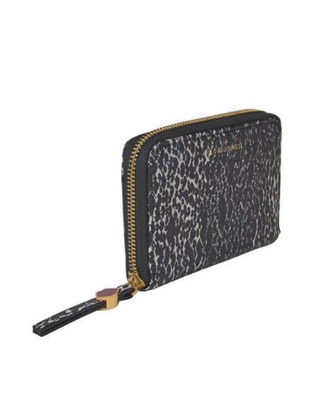 Lulu Guinness Lucille Snake by Lulu Guinness Snake Doodle Print Small Continental Wallet