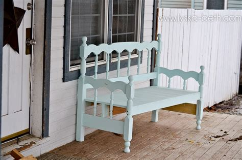 i like that the bench was made out of a headboard footboard neat idea white and diy