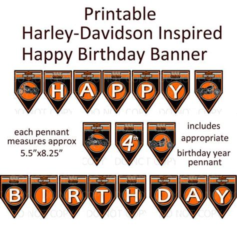 Free Printable Harley Davidson Birthday Cards 17 Best Images About David S 50th Birthday Bash On