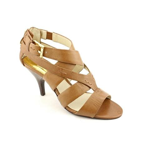 shop michael kors s zoe sandal leather sandals size 8 5 free shipping today