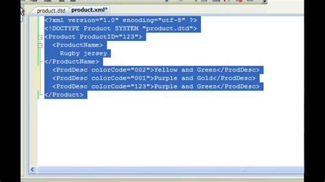 xml tutorial visual studio 2010 validate xml documents using dtd and visual studio youtube