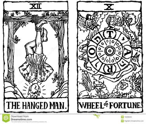 Black And White Printable Tarot Cards