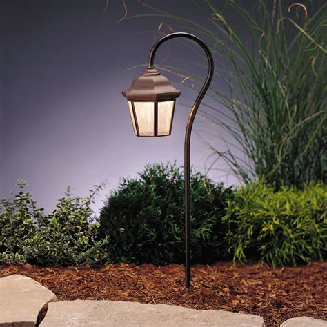 Kichler Lighting 15352oz Traditional Lantern Path Light Kichler Outdoor Landscape Lighting