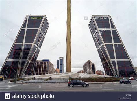 banco bankia madrid spain puerta de europa with bankia and realia