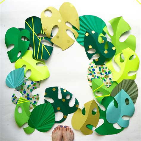 Paper Leaves Craft - make paper monstera cheeseplant leaf sewyeah