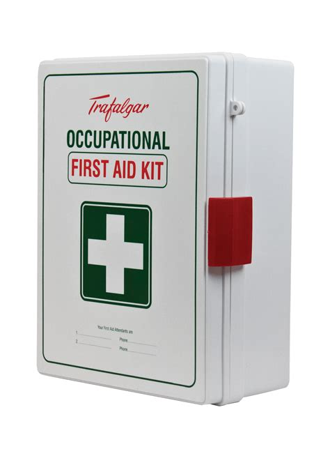 wall mounted first aid box buy online trafalgar national workplace first aid kit wall mount abs