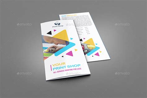 print shop brochure bundle template by owpictures
