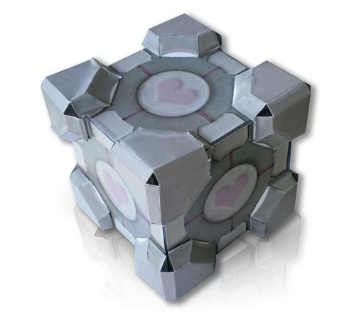 Companion Cube Papercraft - paper crafts companion cube
