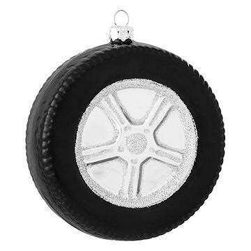 personalized tire with chrome rim ornament bronner s