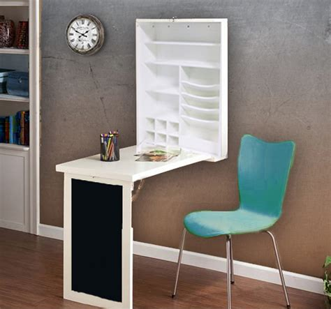small fold up desk fold down desk with wall cabinet and chalkboard