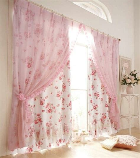 Shabby chic bedroom decorating ideas shabby chic bedroom curtains sheers in front drapes in