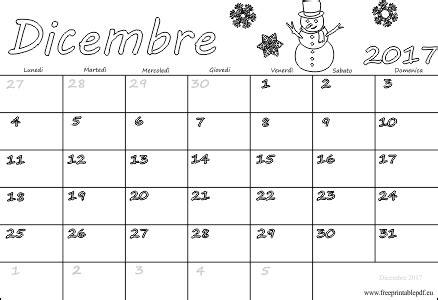Calendario Dicembre 2017 Dicembre 2017 Pdf Scarica Il Calendario Pdf Liberi Di Sta