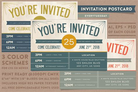 postcard invitation template invitation postcard invitation templates on creative market