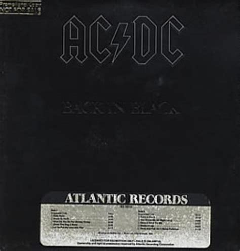 Ac New Avrial Original Indo Shop ac dc back in black gold promo sted us promo vinyl lp