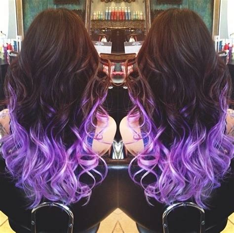 what purple hair dip dyed with black looks like 17 best images about hair on pinterest updo my hair