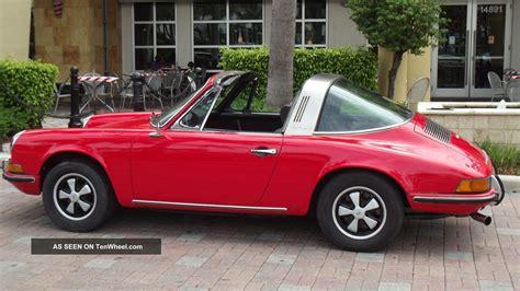 red porsche black 1971 porsche 911 t targa red with black car