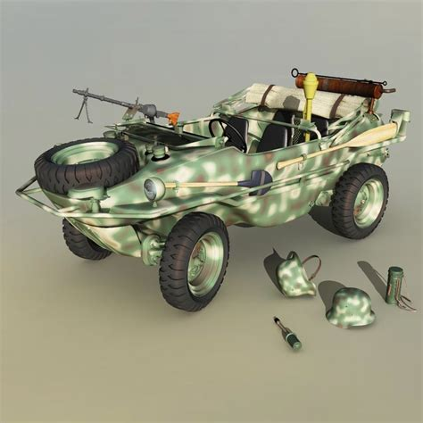 vw schwimmwagen for sale vw type 166 schwimmwagen with accessories 3d models 3dclassics