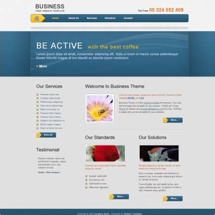 themes css and html business template free website templates in css html js