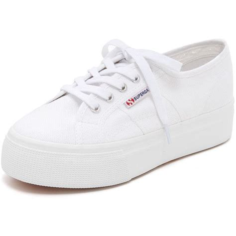 platform white sneakers superga platform sneakers 81 liked on polyvore