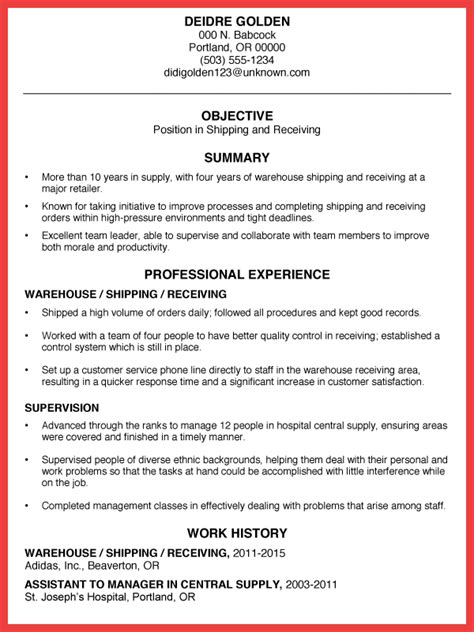 Warehouse Resume Objective by Warehouse Resume Objective Memo Exle