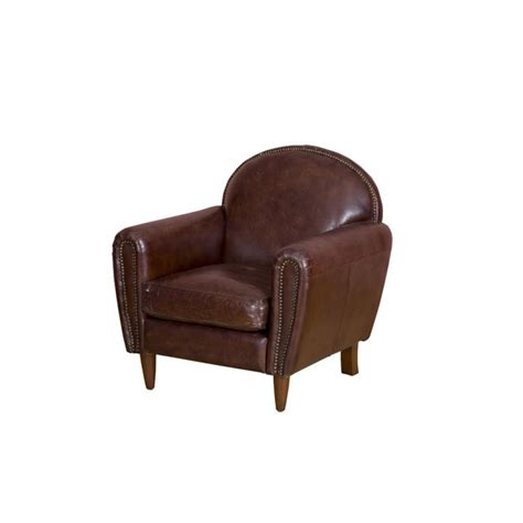 Aviator Armchair by Aviator Distressed Italian Vintage Leather Armchair High