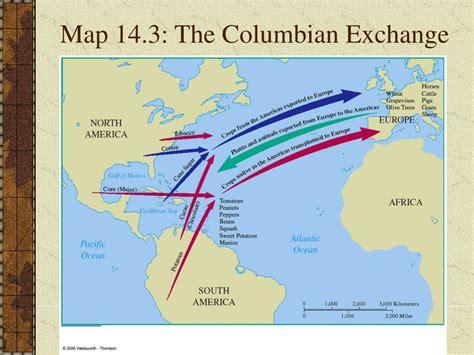 columbian exchange map the columbian images