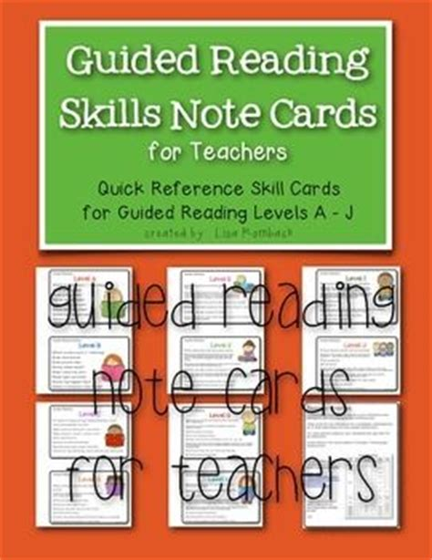easyscript level 2 how to take fast notes books guided reading note cards for teachers freebie