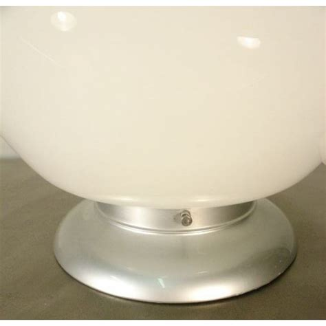 Accent Lamp Large Vintage White Globe