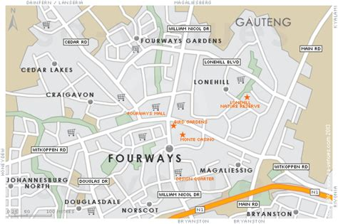 fourways map