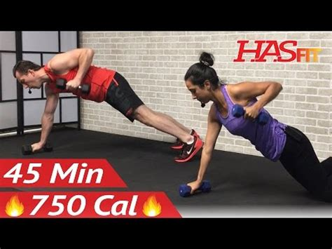 45 min hiit strength and cardio workout at home cardio