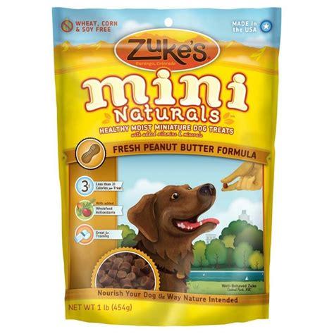 zukes treats zuke s mini naturals fresh peanut butter formula treats 1 lb