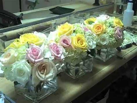 Fish In Flower Vase Designing Cube Vases With Roses Hydrangeas Youtube