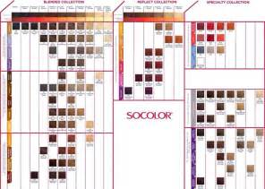 matrix socolor color chart hair colors