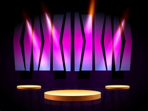 stage backdrop design vector stage design 3d shiny light decoration violet backdrop
